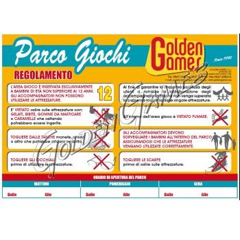 CARTELLO REGOLAMENTO PARCO GIOCHI