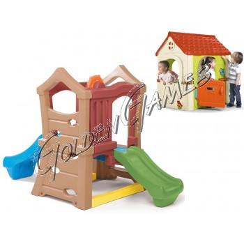 TORRETTA DOUBLE SLIDE (CON CASETTA FANTASY HOUSE IN OMAGGIO)