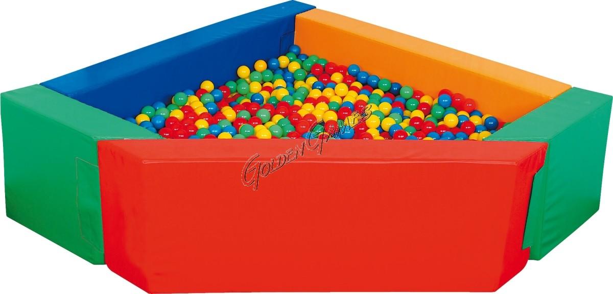 vasca di palline angolare