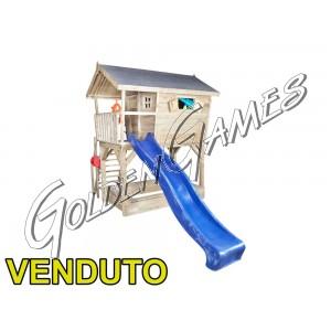 CASETTA SULL'ALBERO CON SCIVOLO  - FINE STOCK