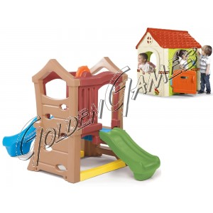 TORRETTA DOUBLE SLIDE (CON CASETTA FANTASY HOUSE IN OMAGGIO)
