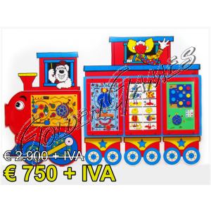TRAIN ACTIVITY WALL PANEL - FINE STOCK