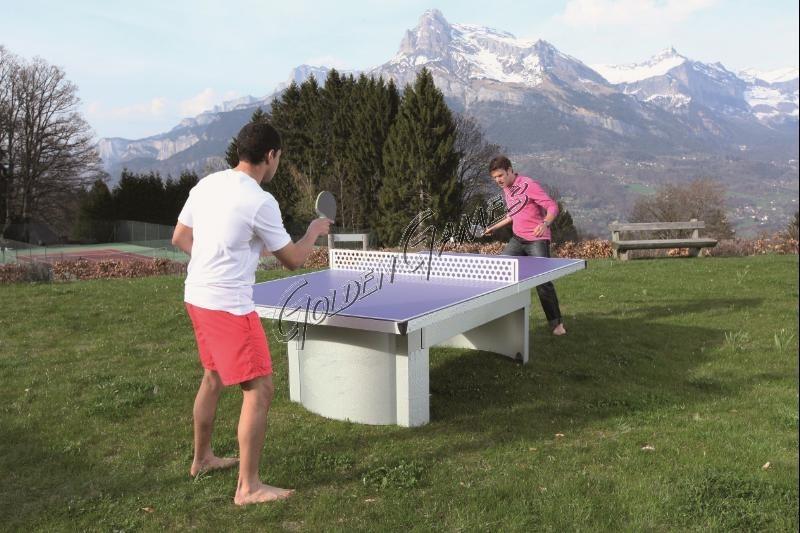 Tavolo ping pong da esterno fisso for Materiale tavolo ping pong