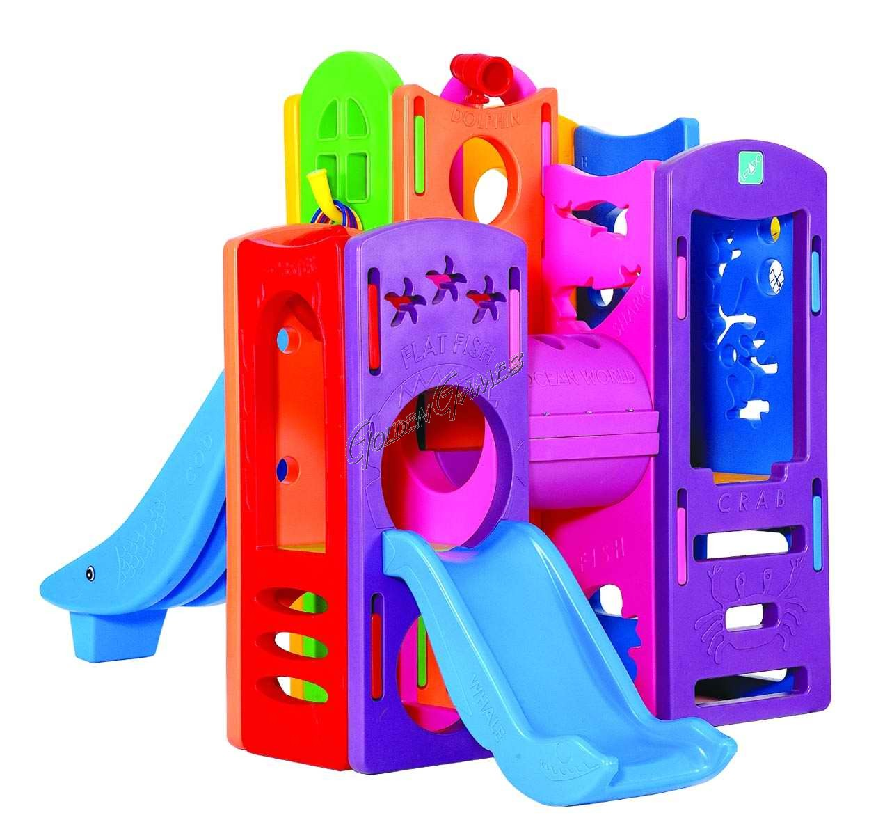 Gioco In Plastica Ocean Double Slide